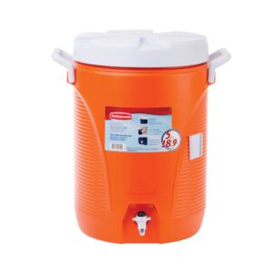 COOLER JUG 5GAL 9-3/4in ORNG RUBBERMAID